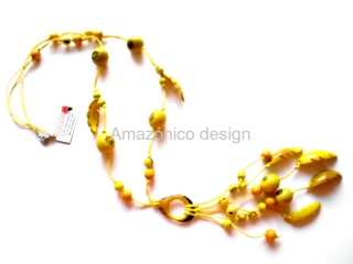 "Collar de semillas ""amarillo"""